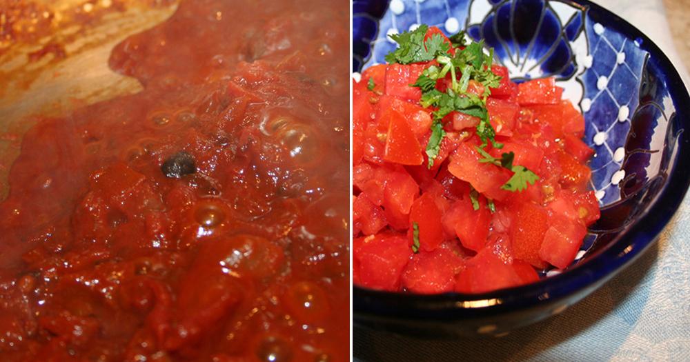 posole sauce & tomatoes