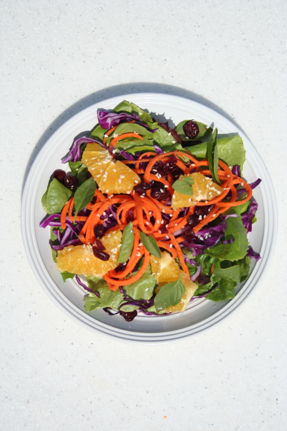 Orange Carrot Cabbage Salad